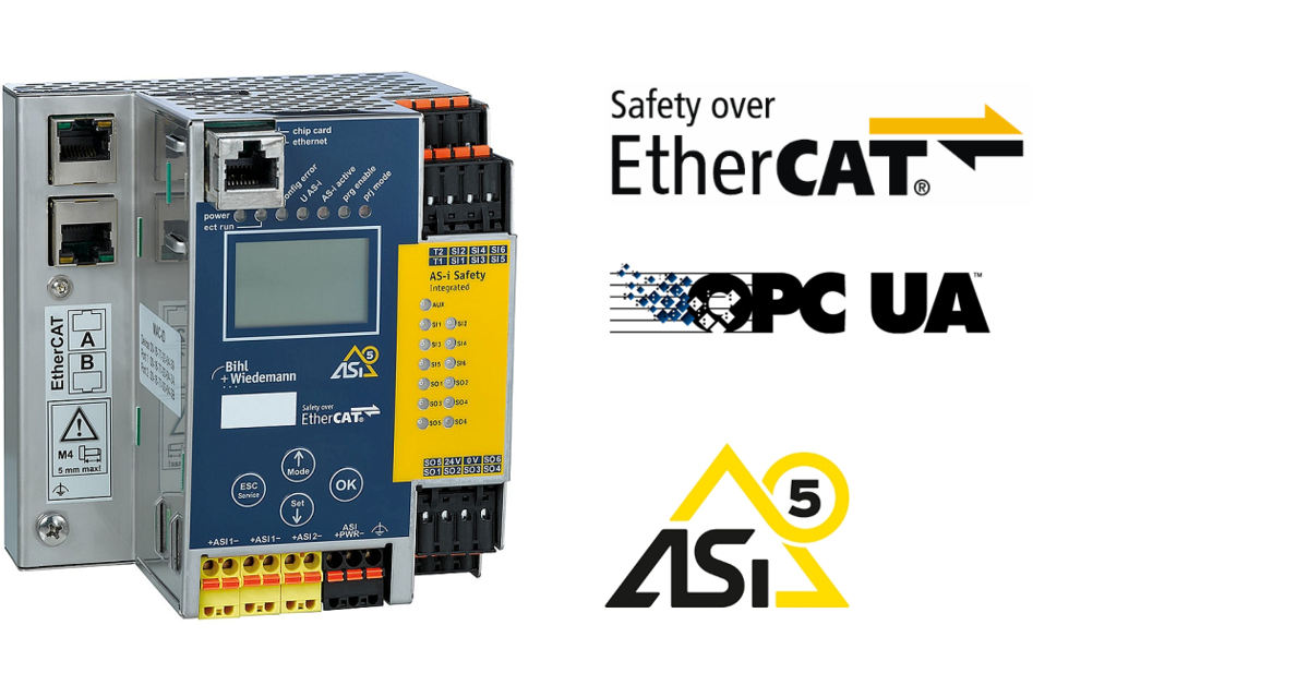 ASi-5/ASi-3 Safety over EtherCAT Gateway