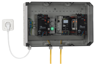 Pre-wired and configured stand alone control unit for fire dampers