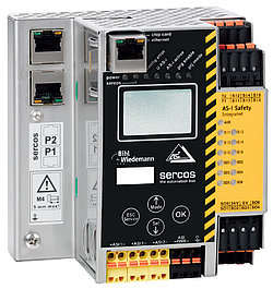 AS-i 3.0 Sercos gateway BWU2984 från Bihl+Wiedemann för integration av AS-i och AS-i Safety i PacDrive 3-applikationer
