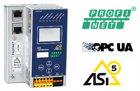 [Translate to Italien:] 24 Volt ASi-5/ASi-3 PROFINET Gateway in Edelstahl